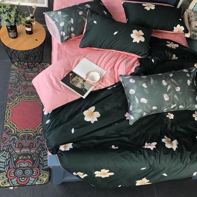 2018新款长绒棉数码印花系列四件套(实拍图) 1.8m(6英尺)床 浪漫花语