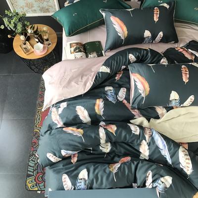 2018新款长绒棉数码印花系列四件套(实拍图) 1.8m(6英尺)床 罗拉之翼