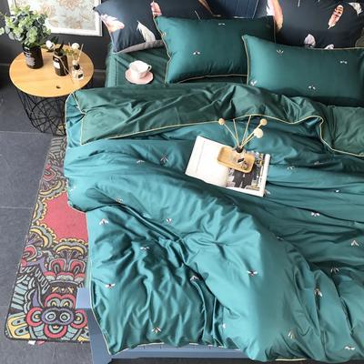 2018新款长绒棉数码印花系列四件套(实拍图) 1.8m(6英尺)床 时尚芭蕾