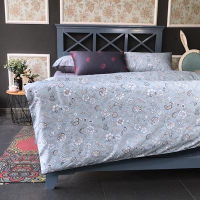 2018新款长绒棉数码印花系列四件套(实拍图) 1.8m(6英尺)床 似水流年