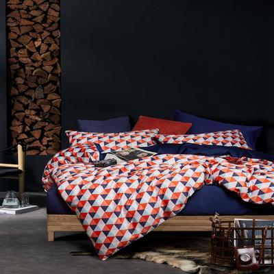 2018新款长绒棉数码印花系列四件套 1.8m(6英尺)床 01272绅士品格