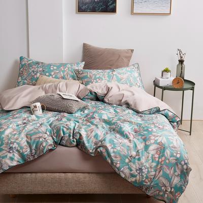 2018新款长绒棉数码印花系列四件套 1.8m(6英尺)床 01276木槿流年