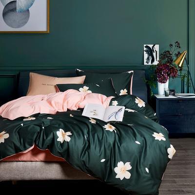 2018新款长绒棉数码印花系列四件套 1.8m(6英尺)床 01553浪漫花语