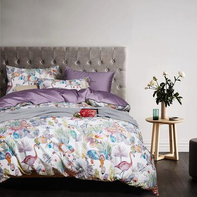 2018新款长绒棉数码印花系列四件套 1.8m(6英尺)床 01557爱丽丝