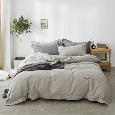 2018新款2121纯色磨毛四件套 1.8m(6英尺)床 布朗