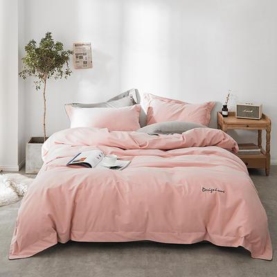 2018新款2121纯色磨毛四件套 1.8m(6英尺)床 粉莎