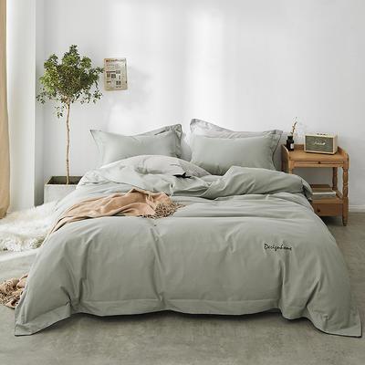 2018新款2121纯色磨毛四件套 1.8m(6英尺)床 刮风