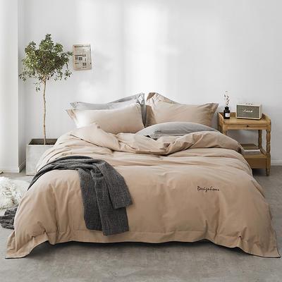 2018新款2121纯色磨毛四件套 1.8m(6英尺)床 糯伍