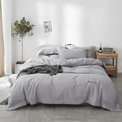 2018新款2121纯色磨毛四件套 1.8m(6英尺)床 银灰