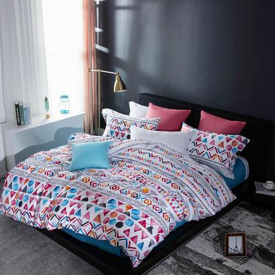 2018年60新款长绒棉印花四件套 1.8m(6英尺)床 安德里亚