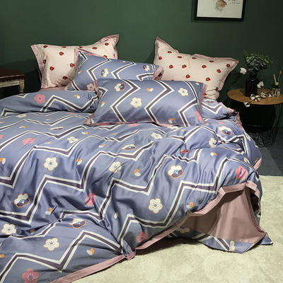 2018新款长绒棉数码印花系列四件套 1.8m(6英尺)床 可爱多