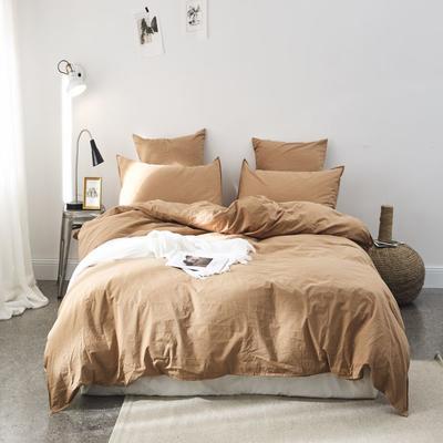 2019新款60水洗棉四件套 1.8m(6英尺)床 草黄