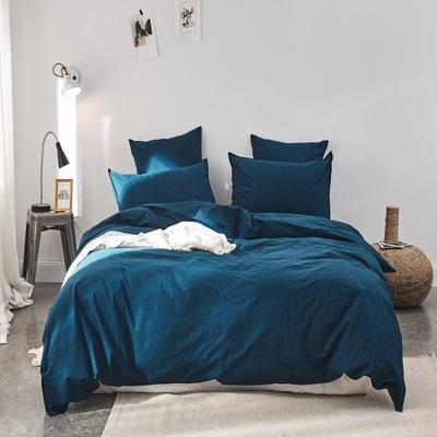 2019新款60水洗棉四件套 1.8m(6英尺)床 君兰