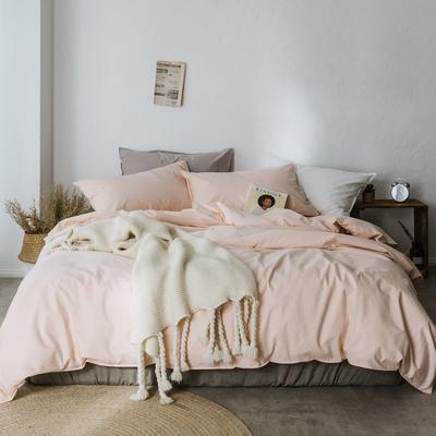 2019新款60水洗棉四件套 1.8m(6英尺)床 裸色