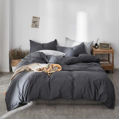 2019新款60水洗棉四件套 1.8m(6英尺)床 深蓝