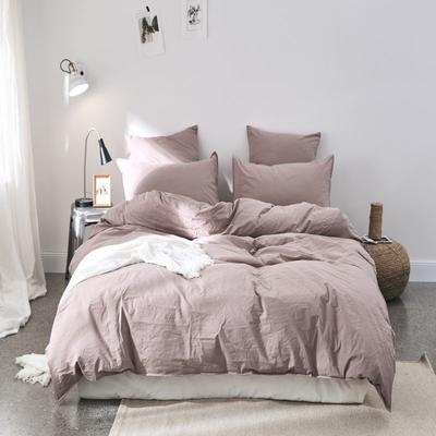 2019新款60水洗棉四件套 1.8m(6英尺)床 瑶紫