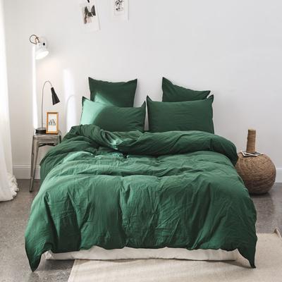2019新款60水洗棉四件套 1.8m(6英尺)床 哲绿