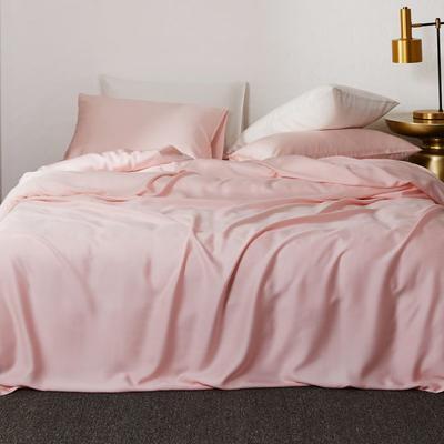 2019新款素色天丝四件套 1.8m(6英尺)床 绯红