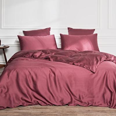 2019新款素色天丝四件套 1.8m(6英尺)床 古典红