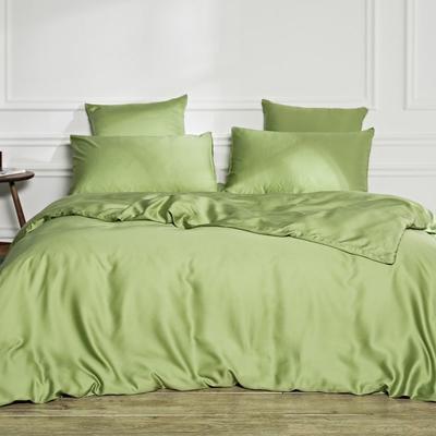 2019新款素色天丝四件套 1.8m(6英尺)床 苹果绿