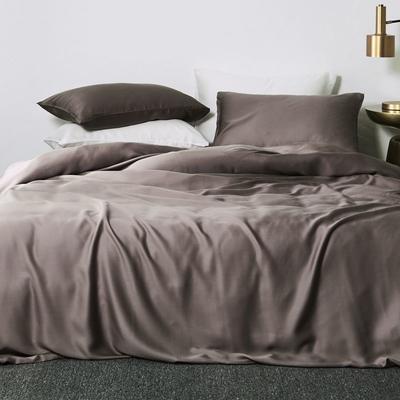 2019新款素色天丝四件套 1.8m(6英尺)床 鹊紫