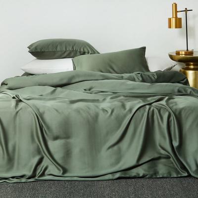 2019新款素色天丝四件套 1.8m(6英尺)床 松绿