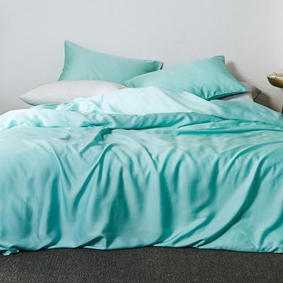2019新款素色天丝四件套 1.8m(6英尺)床 蔚蓝