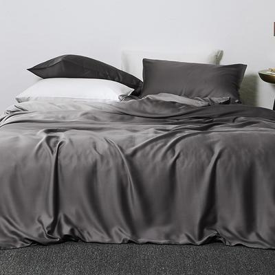 2019新款素色天丝四件套 1.8m(6英尺)床 玄灰