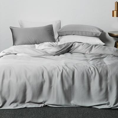 2019新款素色天丝四件套 1.8m(6英尺)床 烟灰