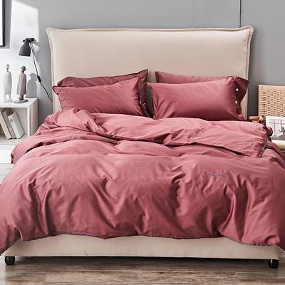 2019新款长绒棉小边工艺款四件套 1.8m(6英尺)床 同紫