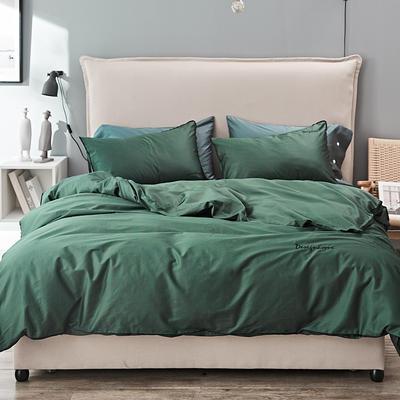 2019新款长绒棉小边工艺款四件套 1.8m(6英尺)床 叶绿