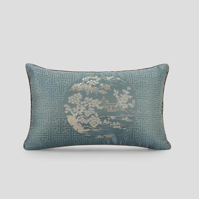 2019新款新中式酒店民宿靠垫抱枕-蓝色印象抱枕 芯子/个 蓝色天空腰枕