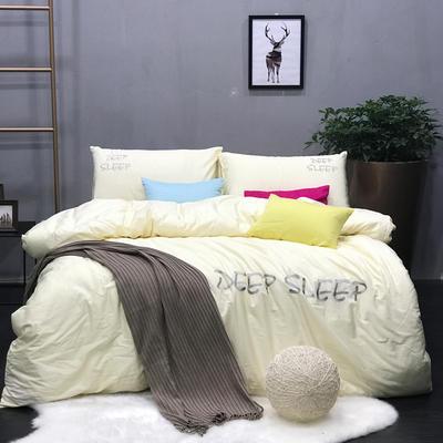 蕴珂家纺133X72喷汽纯色绣花系列四件套 1.5m(5英尺)床 艾欧尼