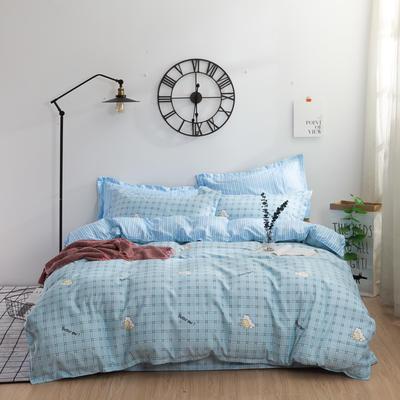 加厚32支顶级瑧纯柔棉四件套 1.8m(6英尺)床 最好的我们 兰