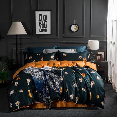 80支纯棉活性长绒棉四件套 1.8m(6英尺)床 溢彩