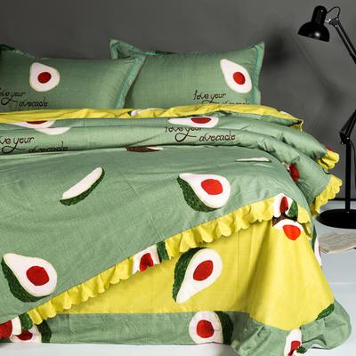 韩版小清新磨毛四件套 1.5m(5英尺)床 牛油果 绿