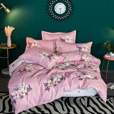加厚32支顶级瑧柔纯棉四件套 1.8m(6英尺)床 一支独舞 粉