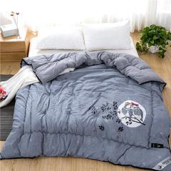 (总)琉璃草家纺 北欧加厚水洗棉羽丝绒冬被斜纹加厚被芯 150x200cm(4.5斤) 同林鸟