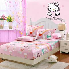 单品纯棉床笠棕垫床笠高度为15cm适合12cm以下的棕垫使用 婴儿 65*110cm(定做) 米菲-粉色