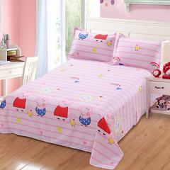 12870系列全部花型 单品纯棉床单 140*230cm(定做) 我爱佩琪
