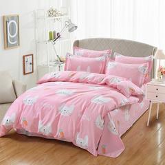 12870系列全部花型 纯棉床单四件套 1.5M床 可可兔-粉色