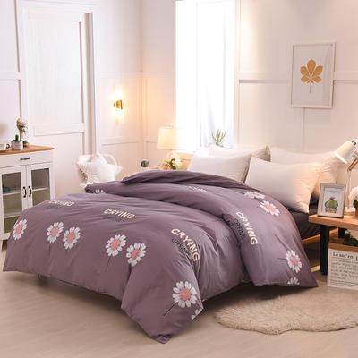 2018年新款全棉活性磨毛单被套款 120x150cm(定制) 向日葵-灰紫