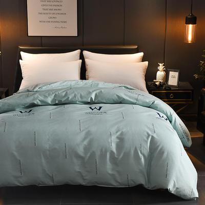 2018年新款全棉活性磨毛单被套款 120x150cm(定制) 夜幕降临-绿