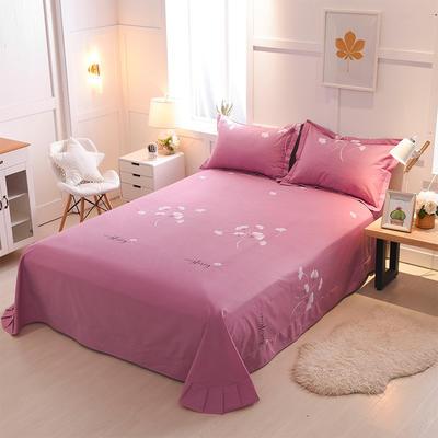 2018年新款全棉活性磨毛单床单款 180x245cm(直角) 迷情之语-豆沙
