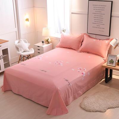 2018年新款全棉活性磨毛单床单款 180x245cm(直角) 迷情之语-玉