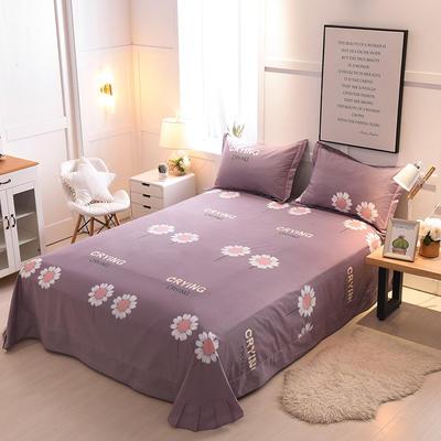 2018年新款全棉活性磨毛单床单款 180x245cm(直角) 向日葵-灰紫