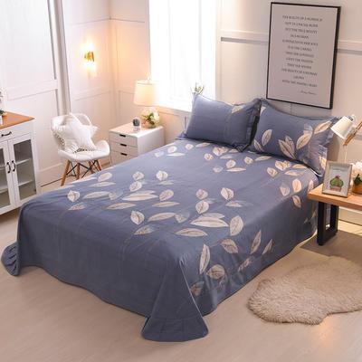 2018年新款全棉活性磨毛单床单款 180x245cm(直角) 叶影相随