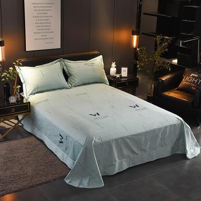 2018年新款全棉活性磨毛单床单款 180x245cm(直角) 夜幕降临-绿