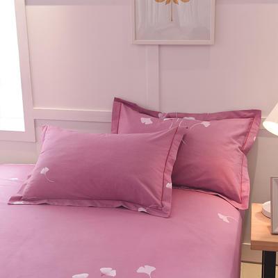 2018年新款全棉活性磨毛单品枕套款 48cmX74cm 迷情之语-豆沙