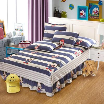 最新13070纯棉单件床罩床裙 100cmx200cm定制,可退换 百变米奇